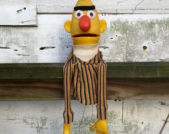 Bert Puppet Sesame Street Vintage