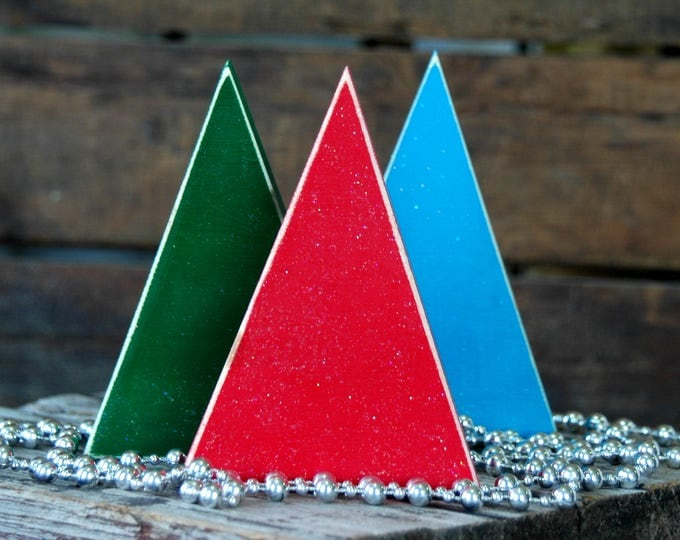 Featured listing image: 3 . Wooden Christmas Trees . Rustic Christmas Decorations . Primitive Decor
