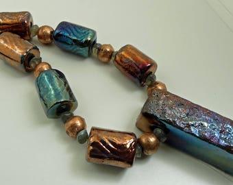Raku Focal Bead Set