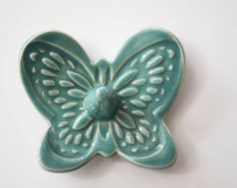 Butterfly Ring Dish in Teal Turquoise