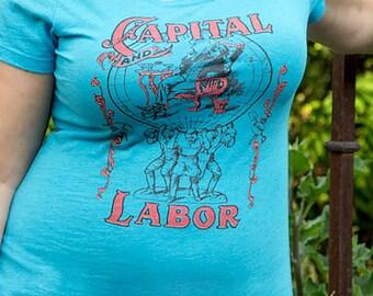 Ladies Capital and Labor | Edwardian Socialism | Ladies' T-shirt