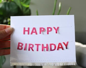 Mini Banner Card 'Happy Birthday'
