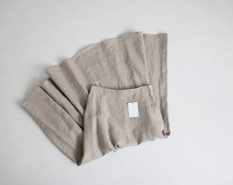 natural linen skirt | long linen skirt | full linen skirt