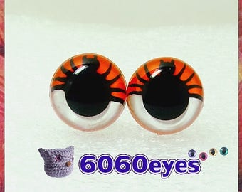 10.5mm/12mm/15mm/18mm Two Tone Hand Painted Spider Eyes