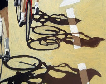 BICYCLE art - Tour De France #2 - cycling on the road sports painting