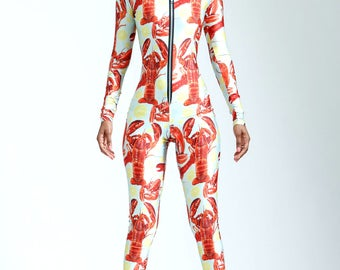 Decadent Lobster Party Casually Extra Catsuit