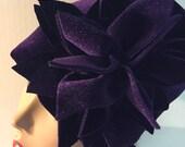 Purple Velvet HerHat Set for Sandra B