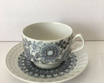 Toledo Cup and Saucer Set Blue Castillian Collection