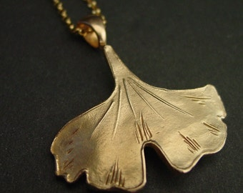 Ginkgo Necklace- large
