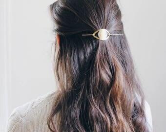 Eye Hair Pin | Brass Hair Clip | Brass Hair Slide | Hair Barrette | Hair Accessories | Silver Hair Clip | Silver Hair Slide | Evil Eye