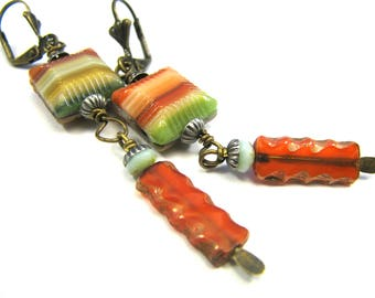 "Bohemian Inspired Czech Glass Collection - ""Jehane"" Earrings"