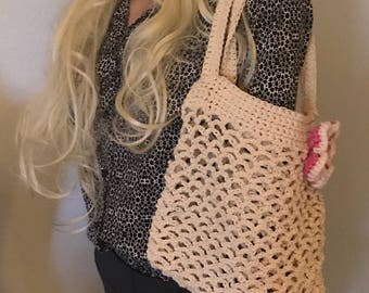 Crochet Hand bag- Tote-Purse