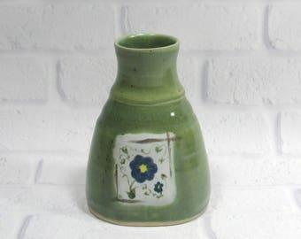 Oval Vase - Sake Bottle - Bottle Vase - Ceramic Vase - Flower Vase - Pottery Vase