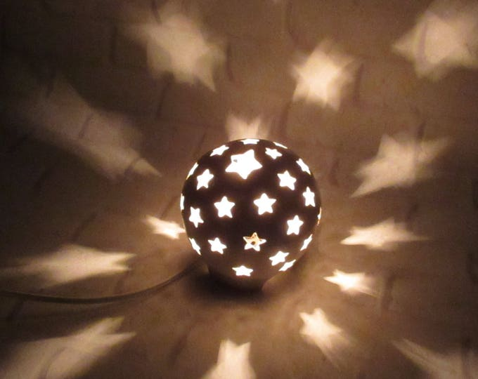Featured listing image: Nursery Lamp, Stars Nursery Lamp, Mood Lighting, Night Light Kids Nursery, Starry Nights night light, Nursery Decor, Baby Shower Gift