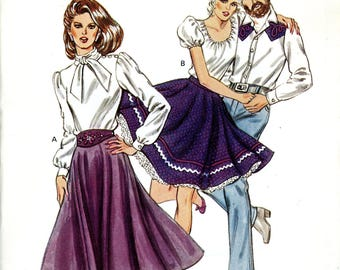 Kwik Sew 1272 Circle Square Dance Skirt Size 14 16 18 20 Uncut Vintage Sewing Pattern 1983 1980s