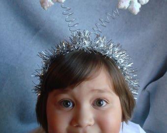 Christmas Headband Winter Snow Snowflake Headband Hair Party Accessories Ugly Christmas Free Shipping Snow Flake Hair Xmas Winter Tinsel
