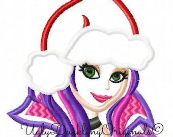 Descendants Mal Christmas Applique Design Original Artwork By UDOAppliques™ Machine Embroidery Christmas Design Mal Design Digital Download
