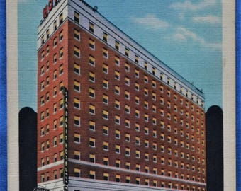 Sam Davis Hotel Nashville Tennessee Linen Postcard Unused