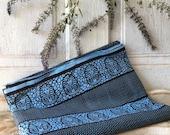 Fabric yardage garanti veritable imi-wax Sotiba Dakar Blue and Black Pharaoh beautiful 100% cotton fabric African print sewing material