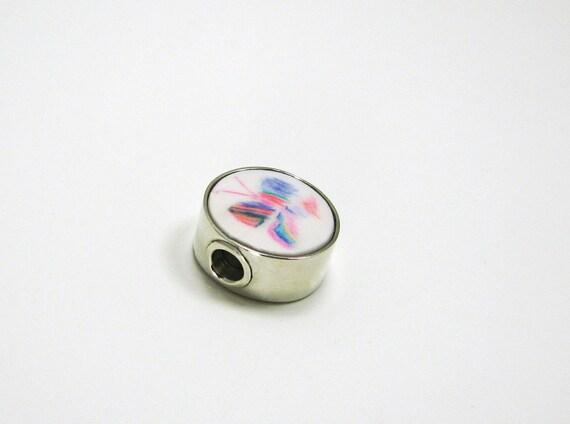 Round, Large Hole Photo Charm for Pandora Style Charm Bracelet
