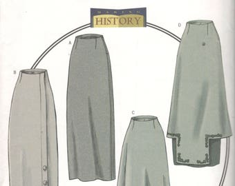 Butterick 4092 Making History 1914 Misses  Basque Skirt Pattern Womens Sewing Pattern Size 12 14 16 Waist 23 - 24 OR 18 20 22 UNCUT