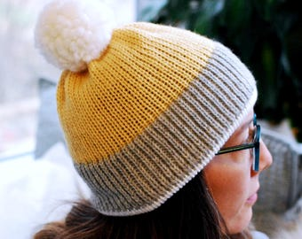 Basic Knit Hat // Pastel Yellow // Warm Winter Accessory // Soft and Squishy