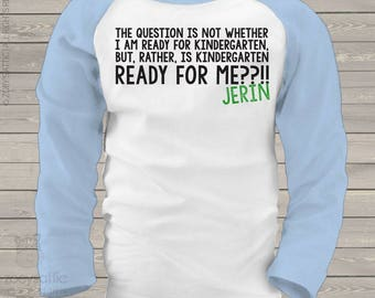 Back to school shirt - funny childrens ready for me personalized back to school kids raglan shirt mscl-071-r