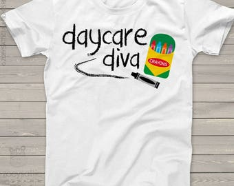 Back to school shirt - girl daycare diva school Tshirt  mscl-095