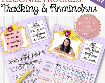 EDITABLE Personal Progress and Honor Bee Tracking and Reminders - INSTANT DOWNLOAD