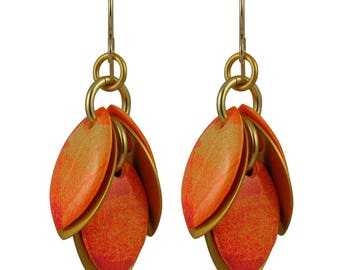 Autumns Ago Petals to the Metal Earrings in Autumn Maple