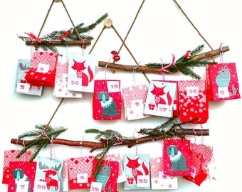 BRANCH HANGERS - Wall Decor - Boho - Wall Hanging - Display - Organiser  - Set of 3 - suitable for hanging an Advent Calendar