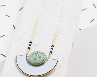 Iconic Necklace, geometric statement necklace, Scandinavian design