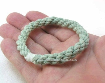 copper green grommet rope bracelets soft bangles rope jewelry nautical style stackable bangles 2700