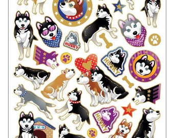 Huskies stickers