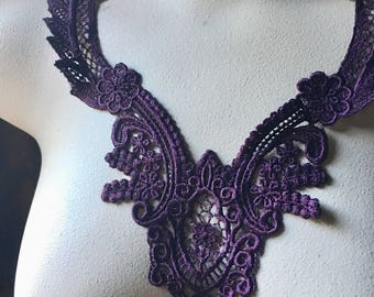 PLUM Lace Applique  in Venise Lace for Garments, Costume Design CA
