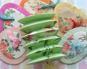 6 Vintage Princess Size Mini Chinese Paper Lanterns Floral
