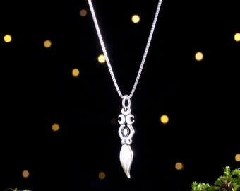 Sterling Silver Triple Moon Goddess - Small - (Charm, Necklace, or Earrings)