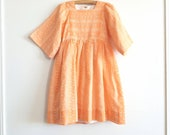 Vintage Orange Girl's Dress