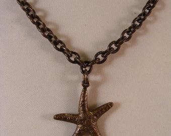 Vintage Starfish Charm Necklace