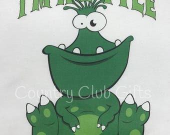 I'm a little monster shirt, baseball shirt. bodysuit shirt, baby gift, Monster baby, halloween, Monster shirt, raglan sleeve