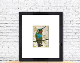 Hummingbird, Hummingbird print, Hummingbird Art, Hummingbird Wall Art, Bird Art Print, Bird Lover, Unique, Colorful Art, Room Decor, Nature