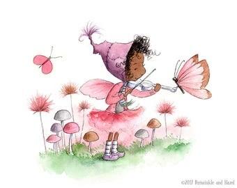 Anastasia Thorne - Fairy Playing Violin - Fairy Art - Art Print