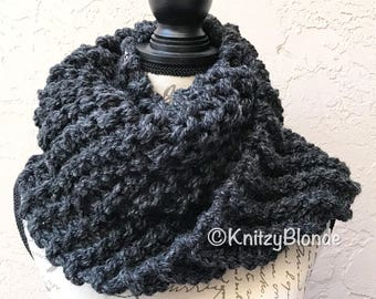 Claire Cowl Infinity Scarf Outlander Chunky Knit, 8 Colors Acrylic Wool Blend