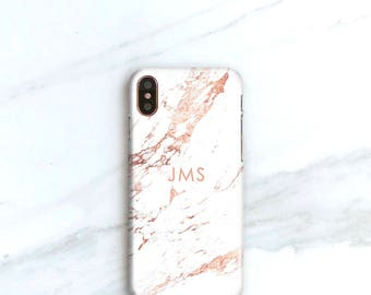 Personalized Gift iPhone X Case, Rose Marble iPhone 8 Plus Case, Gifts For Her iPhone 7 Plus Gift Ideas for Women