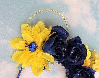 Dori Mickey Ears   Floral Ears   Wire Ears  Flower Crown