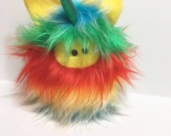 Plush Unicorn Softie - Plush Monster Doll - Cute Stuffed Unicorn Toy - Rainbow Unicorn Monster Plush Toy - Handmade Plush Toy - Fuzzlicorn