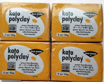 Polymer Clay, Kato Polyclay, Making Mold Gold 2 oz. Bar, Set of 4, Modeling Clay, Polymer Clay