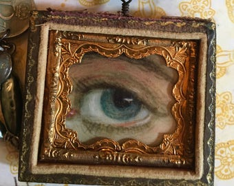 My Lover's Eye - An Assemblage of Victorian Love Tokens Necklace