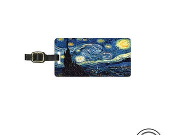 Luggage Tag Starry Starry Night - Full Metal Tag Luggage Tag Personalized Single Tag