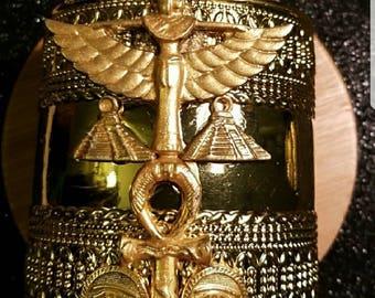 Ancient Egyptian Goddess Maat Cuff Bracelet